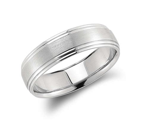 double cut comfort fit wedding ring in palladium 6mm