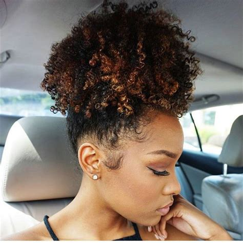 ponytail styles for natural hair clip in afro hair high black kinky curly human hair
