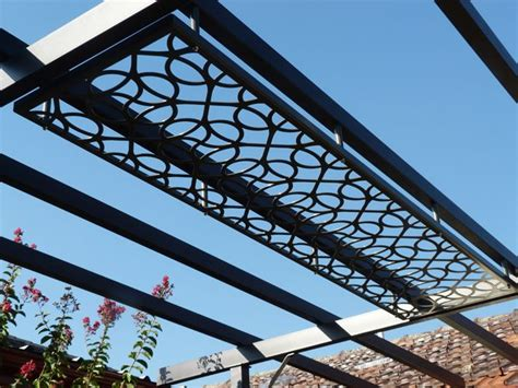 Steel Pergola Laser Cut Patio Pergola By Gardens Of Steel Metal Roof Pergola