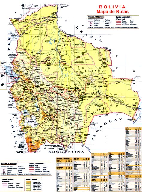 imagenes educativas de bolivia mapa de bolivia rutas y caminos 171 camiri net