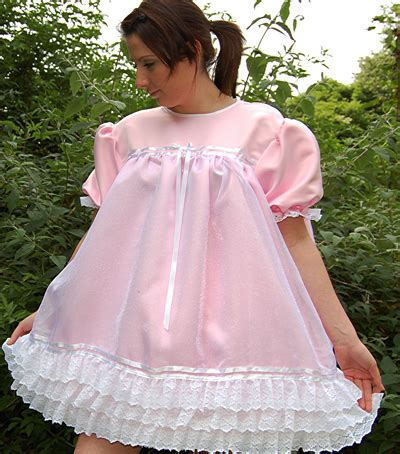 sissies in frilly dresses cosy n dry frilly sissy satin smocked dress order code