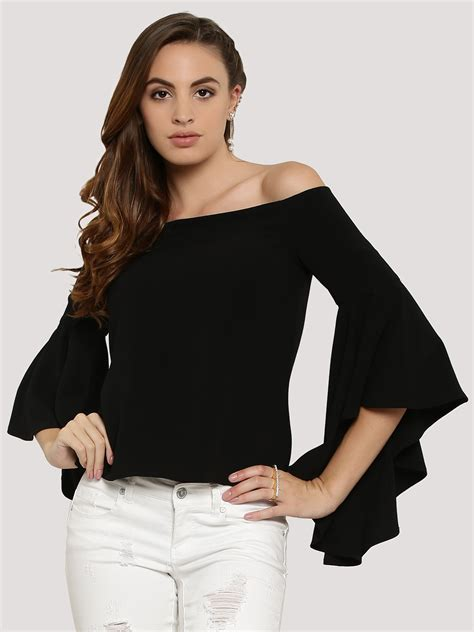 buy forever new shoulder bell sleeve top for