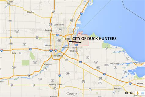 map of oregon ohio city of oregon ohio changes name to city of duck hunters
