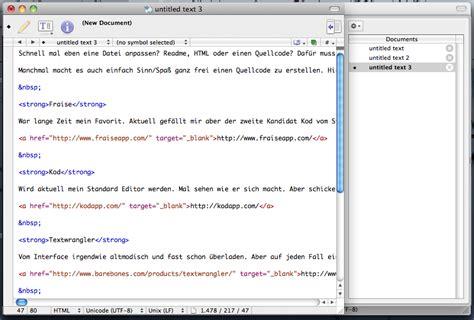 format html with textwrangler webdesign apfelblitz