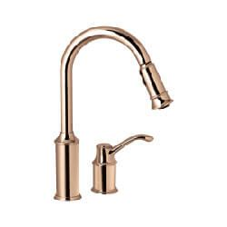 moen aberdeen kitchen faucet 7590cpr 7590cpr aberdeen single handle copper kitchen