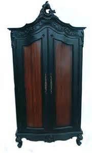 ornate black french period armoire wardrobe shabby chic ebay