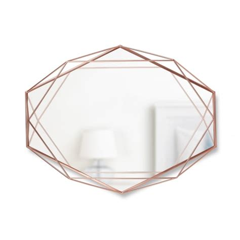 copper wall mirror uk umbra prisma wall mirror copper hurn and hurn