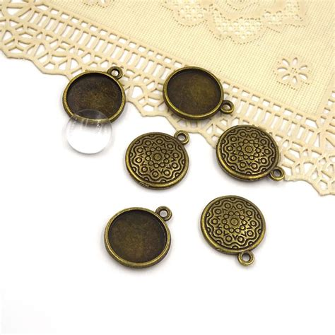 metal blanks for jewelry 20 16mm antiqued bronze cameo cabochon base setting