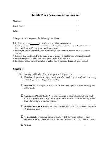 compressed work week template alternative work schedule request form images