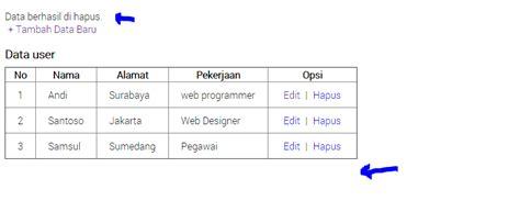 membuat link url dengan php download aplikasi crud pdo