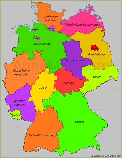 germany state map germany states map germany sports germany landmarks map