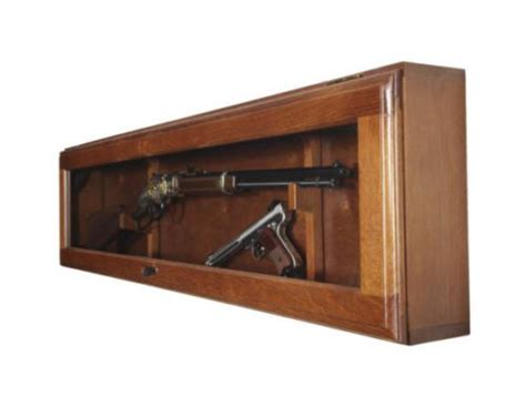 horizontal wall mounted cabinet new gun display wood cabinet case rifle shotgun horizontal