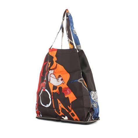 Reusable Shopper Hermes Silky Pop Handbag by Herm 232 S Silky Pop Tote 322440 Collector Square