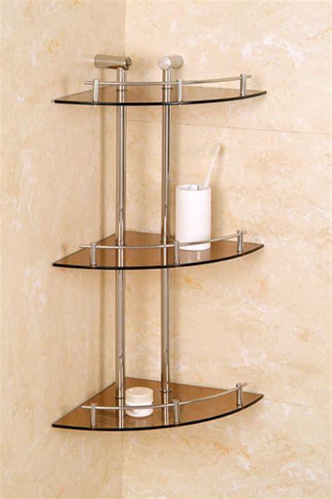 bathroom glass corner shelves bathroom shelf ideas keeping your stuff inside traba homes