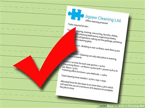 bid rate how to write a cleaning bid 5 steps with pictures wikihow