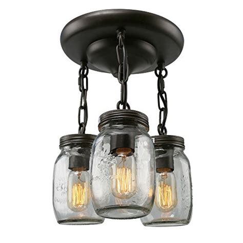 brown ceiling lights lnc glass lighting 3 light jar ceiling lights brown