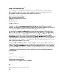 Official Letter For Insurance Claim 41 Acknowledgement Letter Exles Sles