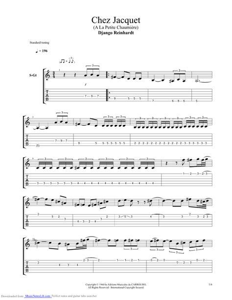 swing gitan tab chez jacquet guitar pro tab by django reinhardt