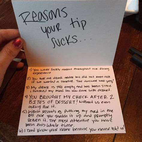 Thank You Letter For Waitress Retail Hell Underground Restaurant Custys Leave Thank You Note For Waitress Explaining Why They