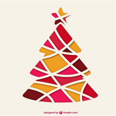 abstract christmas tree vector free download