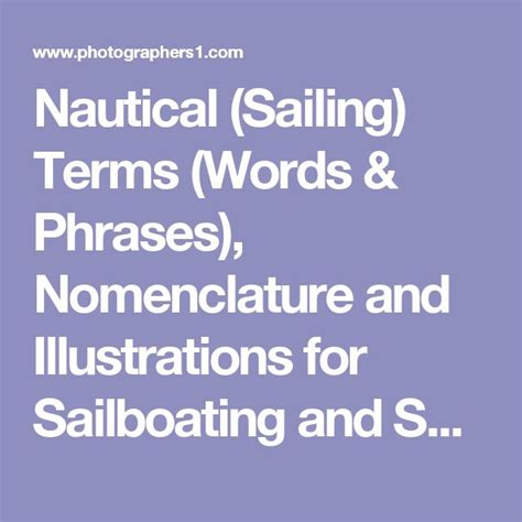 boat terms in english best 25 sailing terms ideas on pinterest sailing boat