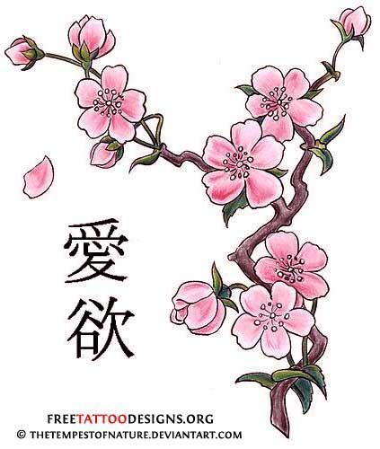 japanese cherry blossom tree tattoos designs cherry blossom designs