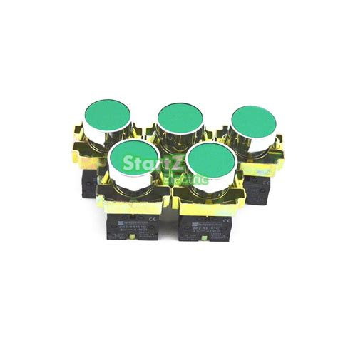 Push Button Lay4 Ba31 Hijau Green 5pcs 22mm Green Momentary Push Button Switch 600v 10a Xb2