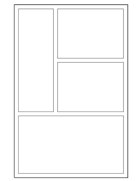 printable book template 8 best images of printable comic templates comic strip
