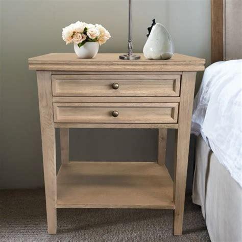 oak bedside table  drawers