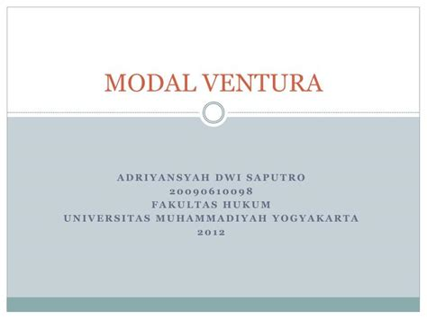 ppt modal ventura powerpoint presentation id 3907278
