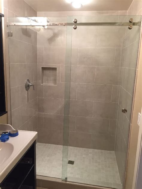 Bathroom Glass Sliding Shower Doors Sliding Glass Shower Doors Patriot Glass And Mirror San Diego Ca