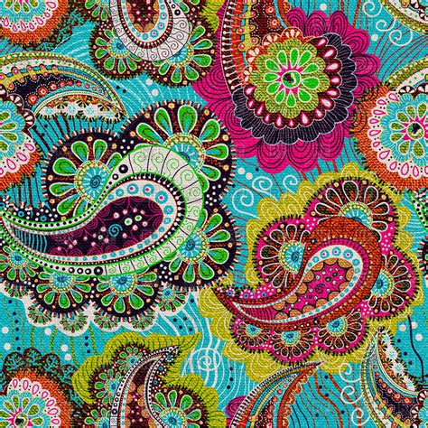 pattern paisley colorful paisley seamless pattern vector image 56725