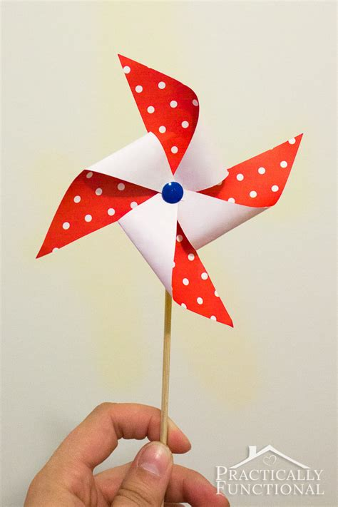 A Paper Pinwheel - how to make a pinwheel free template