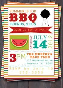 bbq invitation invite birthday baby shower pool summer picnic