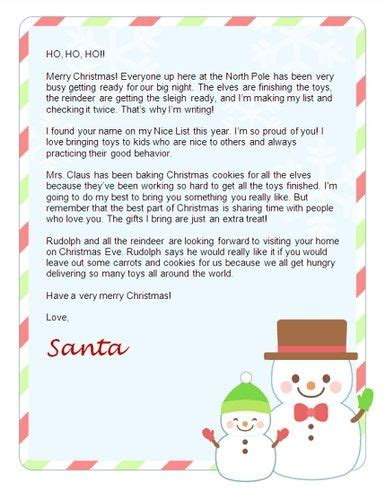printable santa reply letters response letter from santa letters font