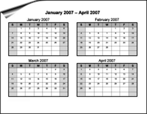 4 month calendar template 2014 printable 2014 calendar 4 months per page autos post