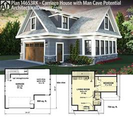 Carriage House Building Plans by Plan 14653rk Carriage House Plan With Man Cave Potential