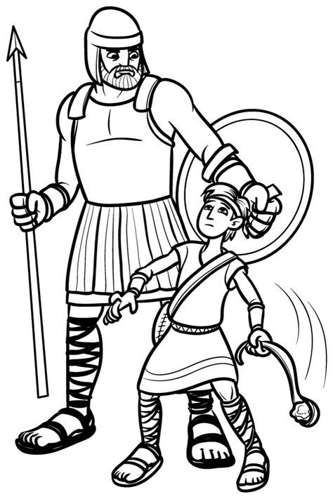 david and goliath coloring pages coloring home