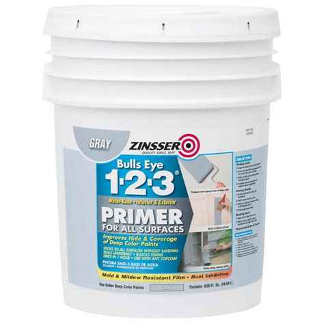 Zinsser Ceiling Paint Review by Zinsser Bulls Eye 1 2 3 630 Oz Water Based Interior