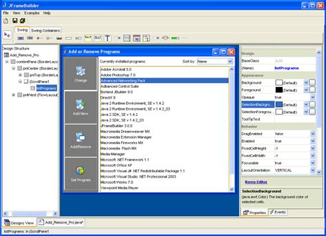 java swing ide gui jscript wsh software free download
