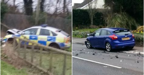 car crash south wales car involved in on collision wales