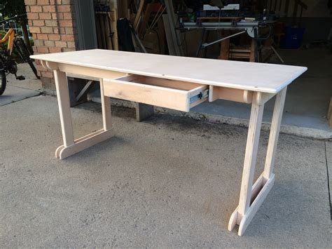 white plywood student desk diy projects