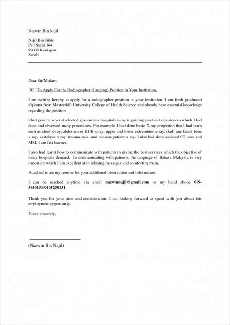 cover letter for internship malaysia exle of cover letter for resume malaysia cover letter