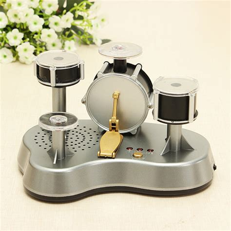 Mini Drum Set For Desk by Mini Finger Drum Set Touch Drumming Led Light Jazz Percussion Ebay