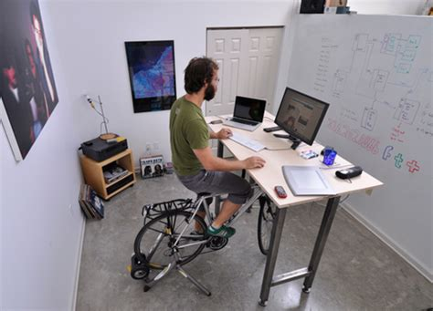 Do Desk Cycles Work by Kickstand Lets You Work Out On Your Bike While At Your Desk