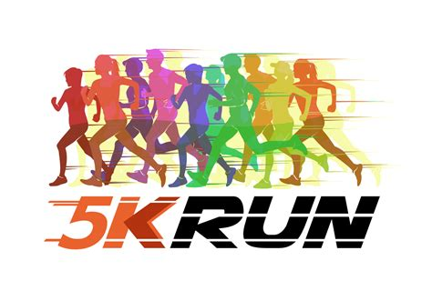 5k From by 5k Running Silhouette Vector Illustration Free