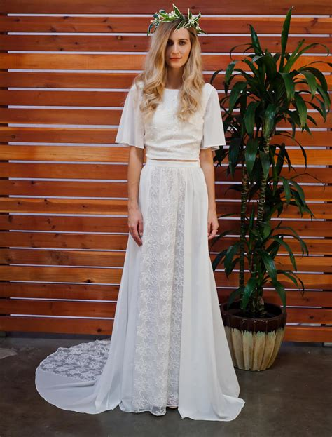 camelia  piece bohemian wedding dress dreamers  lovers