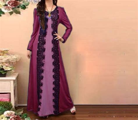 pattern jubah lace muslimah jubah dress abaya dress hijab dress pinafore