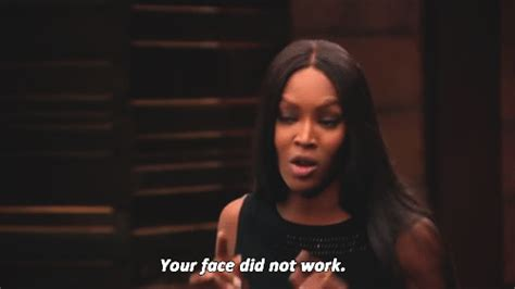 Naomi Meme - naomi cbell your face did not work gif find share