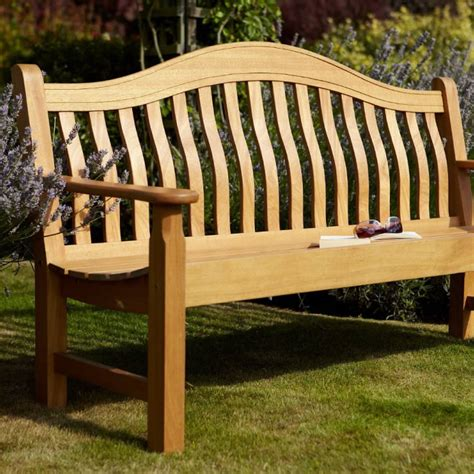 3 seater garden bench norbury 3 seater hardwood garden bench from hartman 163 205